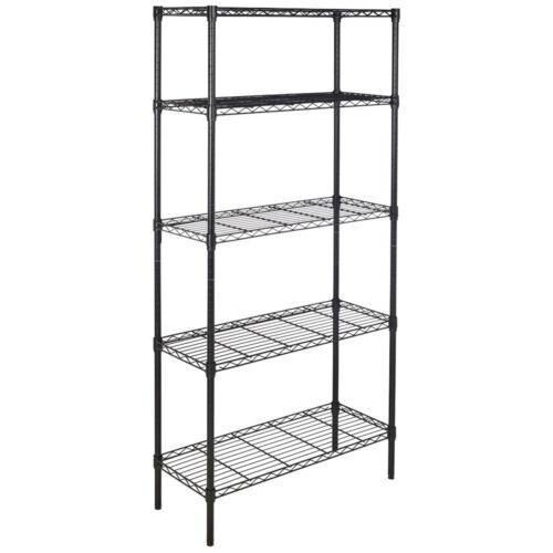 Home Kitchen Garage Wire Shelving 5 Layer Tier Storage Rack Unit Shelves Metal