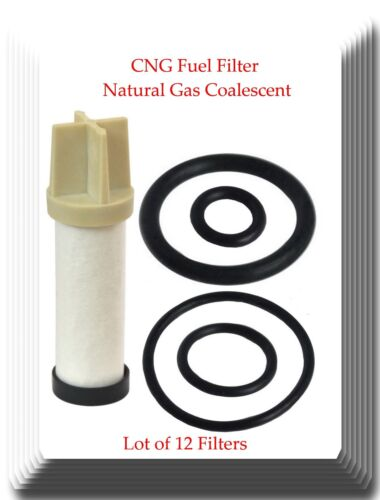 Lot of 12 CNG Fuel Filter Natural Gas Coalescent Element Replacement of CLS112-6