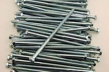 25 Hex Head 38 X 8 Lag Bolts Zinc Plate Wood Screws