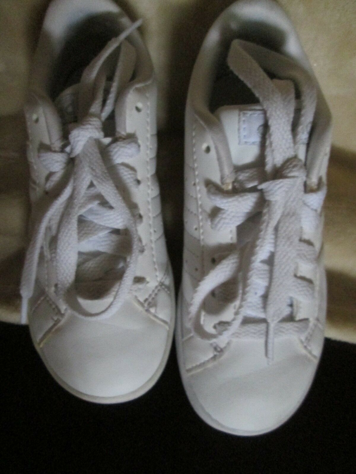 Girls Adidas Neo Comfort Footbed 12 White Striped Sneakers Shoes 12 Footbed 7a561c