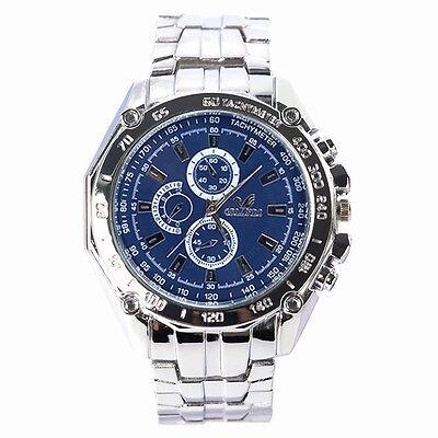 Luxury Casual Men's Watch Sport Stainless Steel Quartz Analog Wrist Watches