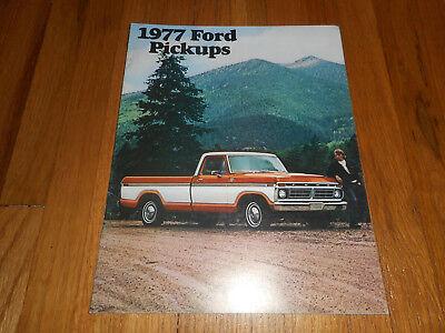 Vintage Original 1977 Ford Ranger Rv Pickup Truck Sales Brochure Car Auto American