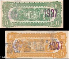 I.O.U. One Tainted Counterfeit, Advertising note, counterstamped. Very odd, Cool