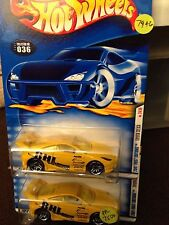 HTF HOT WHEELS 2001 FIRST EDITIONS TOYOTA CELICA TUNER #24 1:64 YELLOW SET OF 2