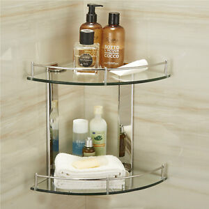 2-Tier-Bathroom-Corner-Shelf-Shelve-Glass-Shower-Wall-Mounted-Storage-Caddy-Ace