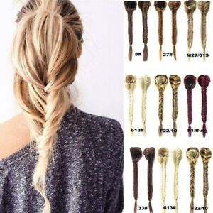 Braided ponytail extensions