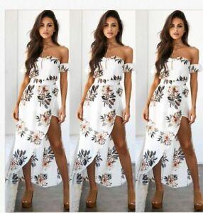 sexy cocktailkleid clubwear strand kleid partykleid abendkleid blumen print a32  ebay