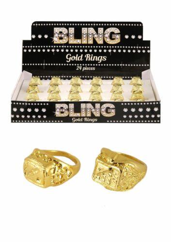LOTTO di oro anello Magnaccia Rapper Hip Hop Costume HIP HOP MUSICA POP UK