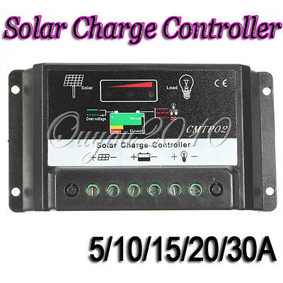 5-30A MPPT Solar Panel Battery Regulator Charge Controller AutoSwitch 12-24V