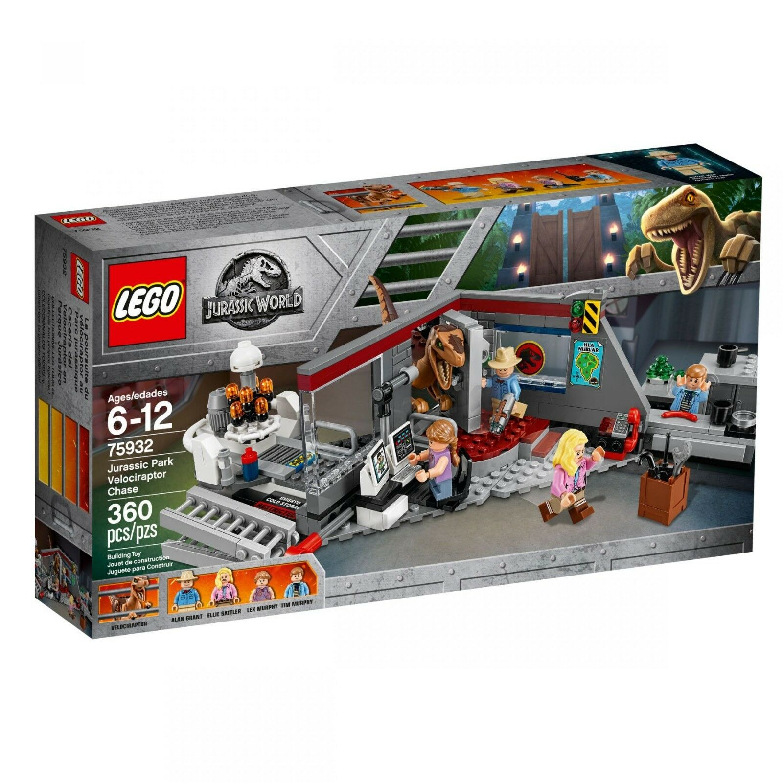Lego 75932 Jurassic Park World chasse sur les un Vélociraptor Chase exclusivement RAR Neuf