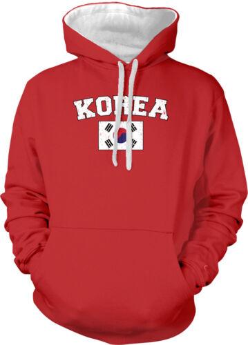South Korea Country Flag Korean ROK Pride Football Soccer 2-tone Hoodie Pullover