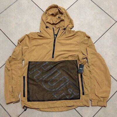 Huf Worldwide Windbreaker Jacket Jacke Anorak Wire Frame Honey Mustard in L