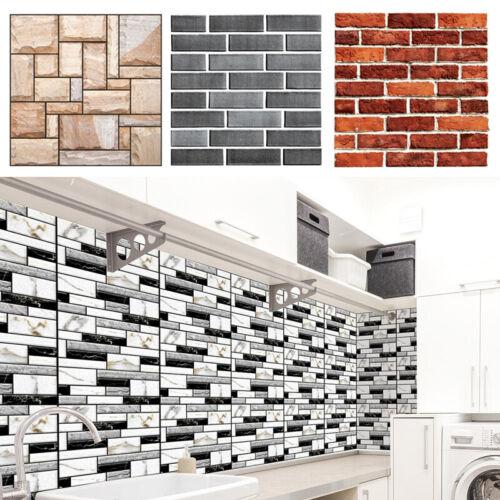 3D Waterproof PVC Tile Sticker DIY Self-Adhesive Bathroom Wall Decal Tape 30*30