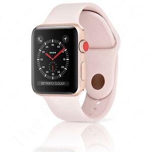 Series 3 Apple Watch Sport 42mm Gold Aluminum Pink Sand Sport Band