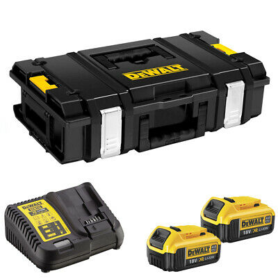 DeWalt DS150 Toughsystem Storage ToolBox Case with 2 x 4.0Ah Batteries /& Charger