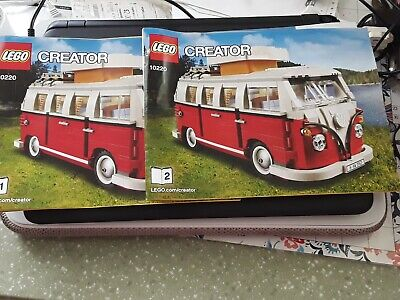 ONLY instruction manuals LEGO 10220 Volkswagen T1 Camper Van books 1 and 2 only