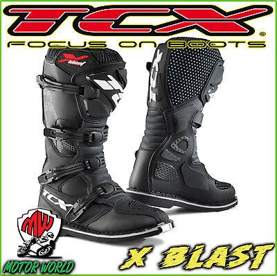 Dettagli su TCX Stivali moto cross enduro X Blast NeroGiallo Fluo tg. 44