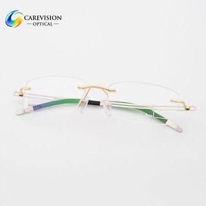 e7d2429ea4 Image is loading Men-039-s-Titanium-Alloy-Rimless-Myopia-Eyeglasses-