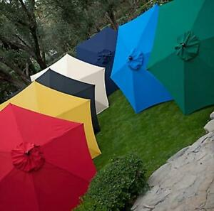 Market-Umbrella-Classic-Wood-Wooden-Patio-11-Foot-Ft-New-Style-Pool-Beach-Large