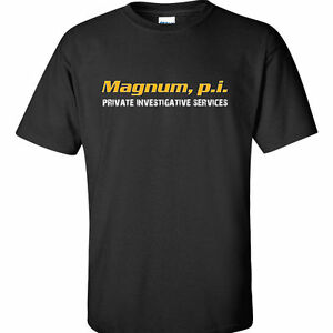 f44ad1964 Magnum, PI T-Shirt Tom Selleck Retro Vintage Magnum, PI TV Show 80's ...