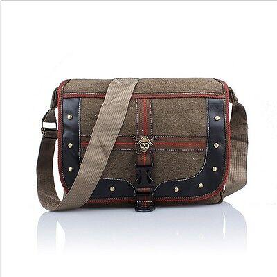 Leisure retro bag man Shoulder Messenger trade cotton canvas bag gunny bag