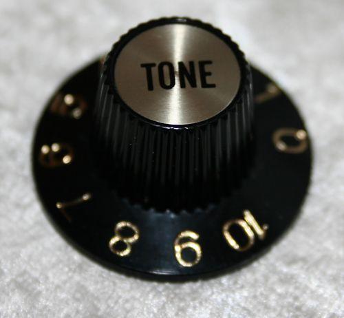 Bell knob Knopf Potiknopf SG Tone spiegel gold sw
