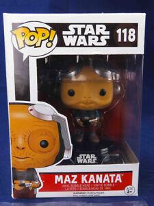 New Star Wars Maz Kanata Pop Vinyl Bobble-Head Figure #118 Funko Official