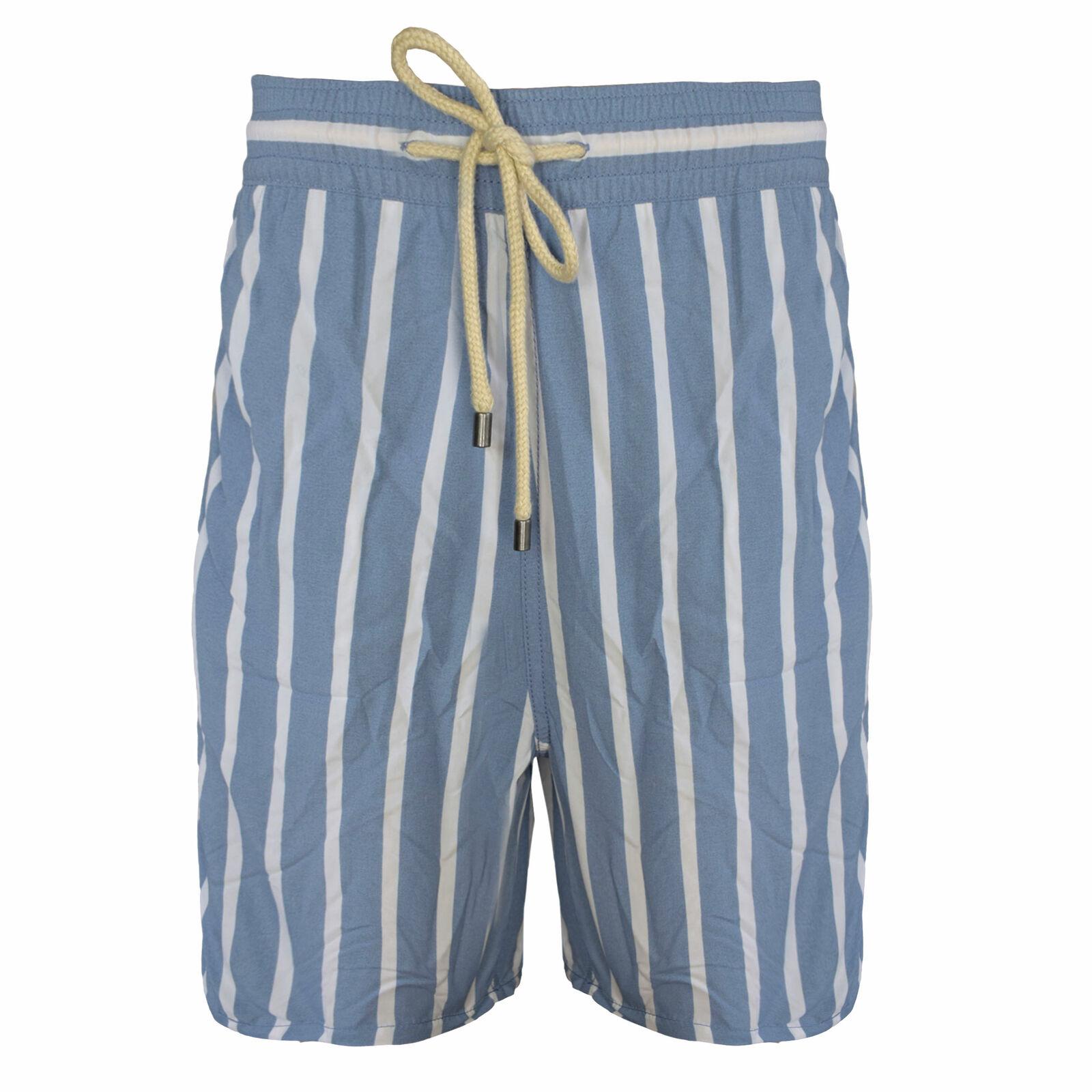 Solid & Striped Men's The Classic Swim Trunks, Steel bluee White