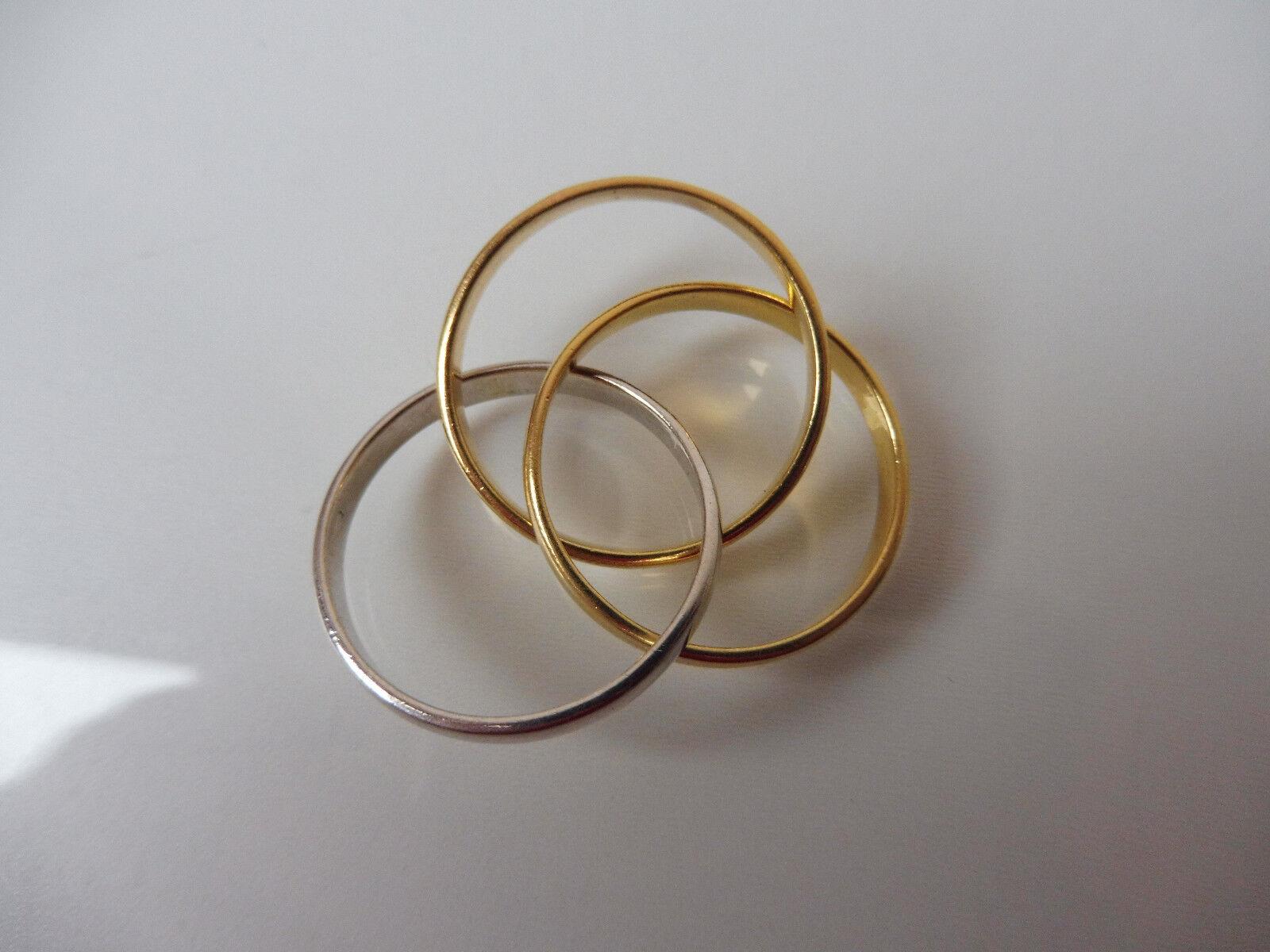 Hermosa, Antiguo Anillo __ Trible-Ring __ 3 de silver como Uno __ Rgk 925 __ _