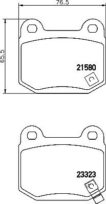 Mintex Rear Brake Pad Set MDB2342 5 YEAR WARRANTY BRAND NEW GENUINE