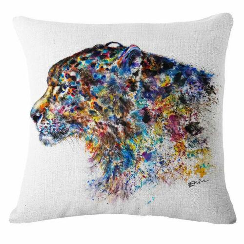 """18/"""" 18/"""" Aquarelle Encre Peinture Tigre décoratif Throw Taie d/'oreiller Housse de coussin"""