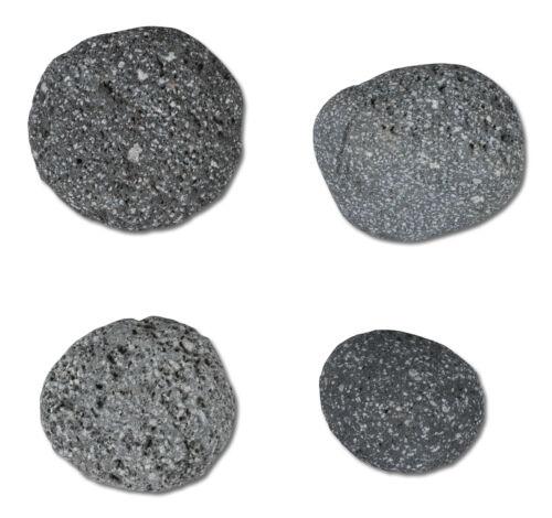 LAVA ROCKS  1 Kg 1000 g Indonesien ANTHRAZIT 84 Runde Deko- Steine 20-40 mm