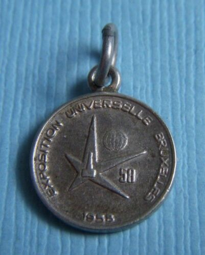 Vintage Brussels Belgium Exposition 1958 silver ch