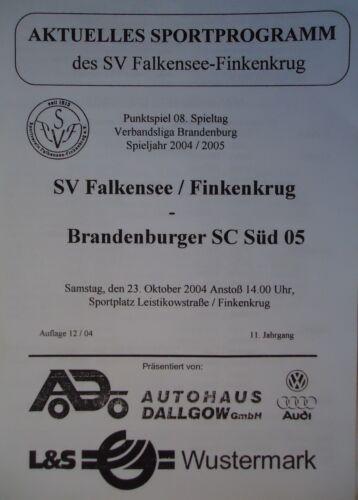 Programm 2004/05 SV Falkensee Finkenkrug Süd Brandenburg