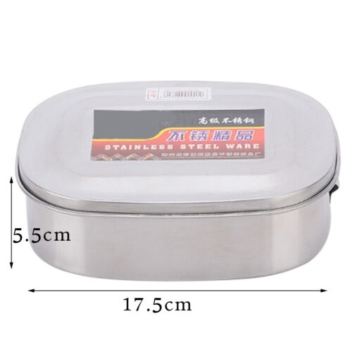 1pc Stainless Steel Bento Lunch Box Travel Picnic Food Storage Container