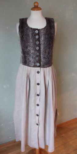 traditionnelle Dirndl Extravagant M 38 Beige Life Robe In veau Tracht Longueur Marron IXnX7wx