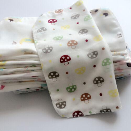 10 pcs Baby Gauze Muslin Square Cotton Bath Wash cloths bibs Towel 25*25cm