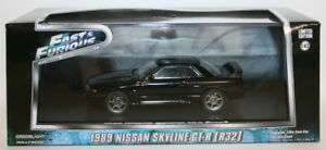 Greenlight-1-43-Scale-86229-Fast-amp-Furious-1989-Nissan-Skyline-GT-R-R32-Black