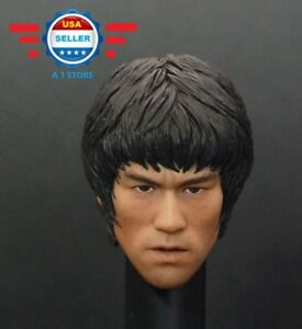 1-6-Scale-Bruce-Lee-Head-Sculpt-for-12-039-039-male-figure-body