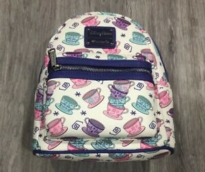 9f5a250489b Image is loading Disney-Parks-Loungefly-Alice-In-Wonderland-Backpack-Tea-