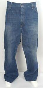 Men's Daniel Cremieux Relaxed Fit Zipper Fly Denim Jeans EUC Dark Blue W42 L32