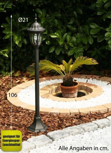 Lampione da giardino Classico Lampioncino Lampada da esterno Alluminio NEW 1901