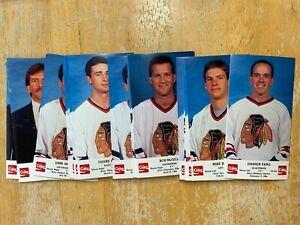 1988-1989-Chicago-Blackhawks-Coke-Team-Issue-Set-of-25-Cards-NHL-Sealed