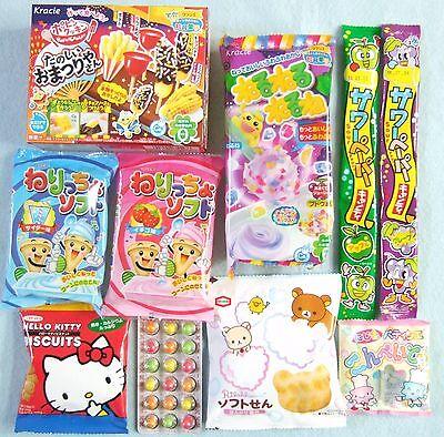 10 PCS SET Japanese Candy Dagashi Set Hello Kitty Rilakkuma Kracie Omatsuri New