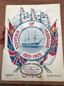 souvenir of trafalgar 1805 - 1905 ( publication by gale & polden ) scarce !