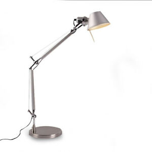 Image Is Loading Tolomeo Desk Lamp Aluminum E27 Adjustable Table Light