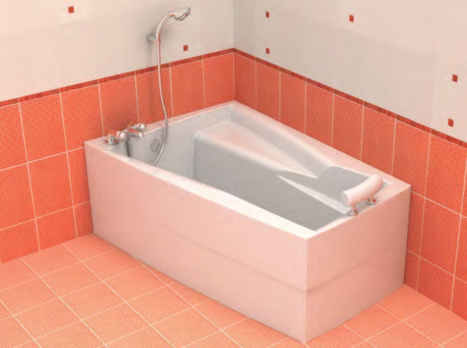 Badewanne 160x105 cm incl. Füße + Schürze + Ablauf + Befestigungset Raumspar L