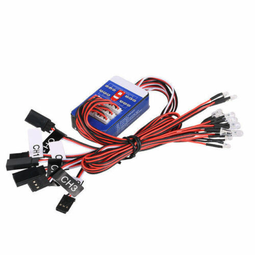 12 LED KIT STEERING BRAKE REAL SIMULATION FLASHLIGHT 1//10 PICKUP TRUCK RC Car