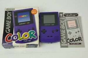 Nintendo-Gameboy-Color-Purple-Console-3-GBC-Box-From-Japan