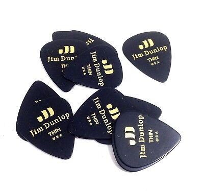 Dunlop Guitar Picks Classic Celluloid Medium Black 12 Pack